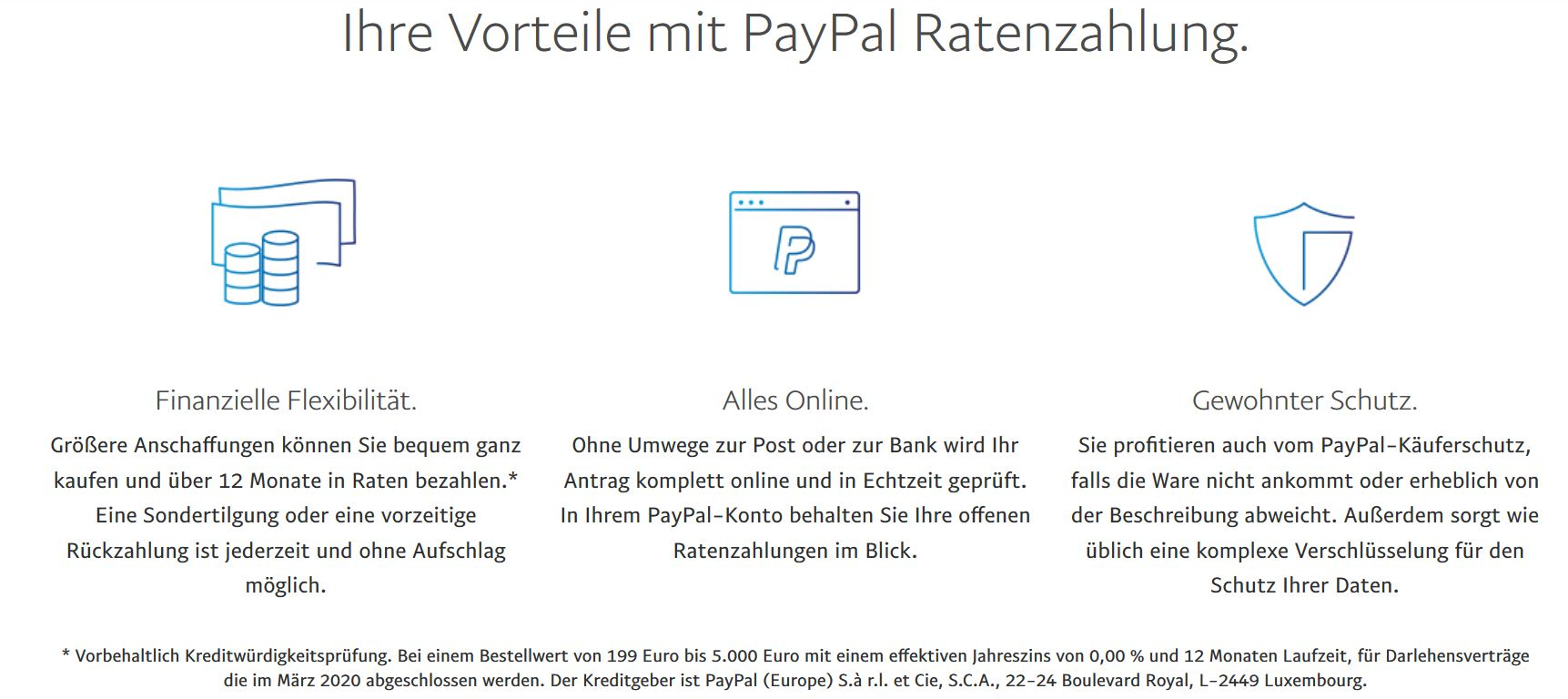 Ratenzahlung-PayPal